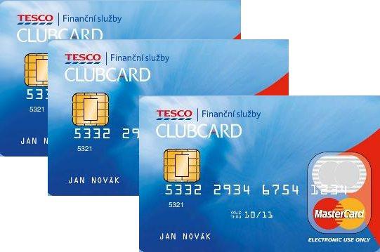 Tesco kreditní karta clubcard