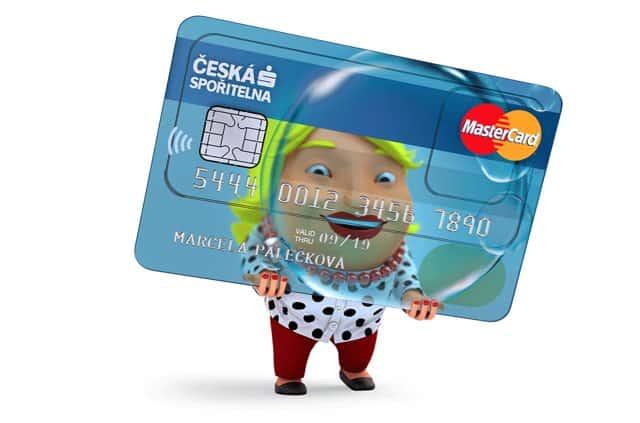 transparentní kreditka